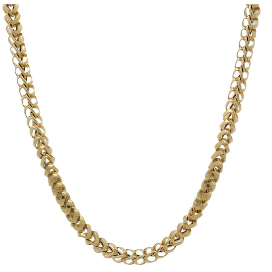 9ct Yellow Gold Mens Fancy Chain 36 inches