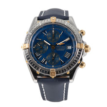 Load image into Gallery viewer, Breitling Crosswind B13355 Chronograph Steel & Blue 43mm Mens Watch