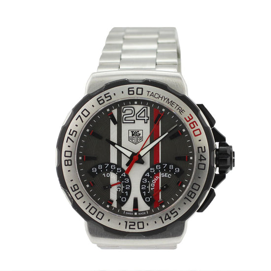 Tag Heuer F1 CAH7011 44mm Grey & Stainless Steel Quartz Mens Watch