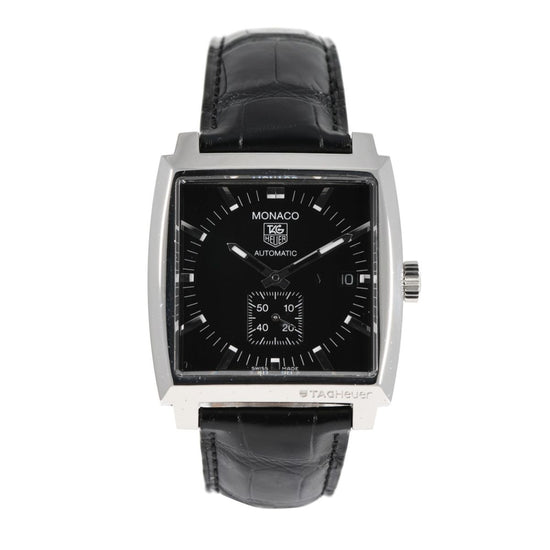 Tag Heuer Monaco WW2110-0 Black Automatic 37mm Mens Watch