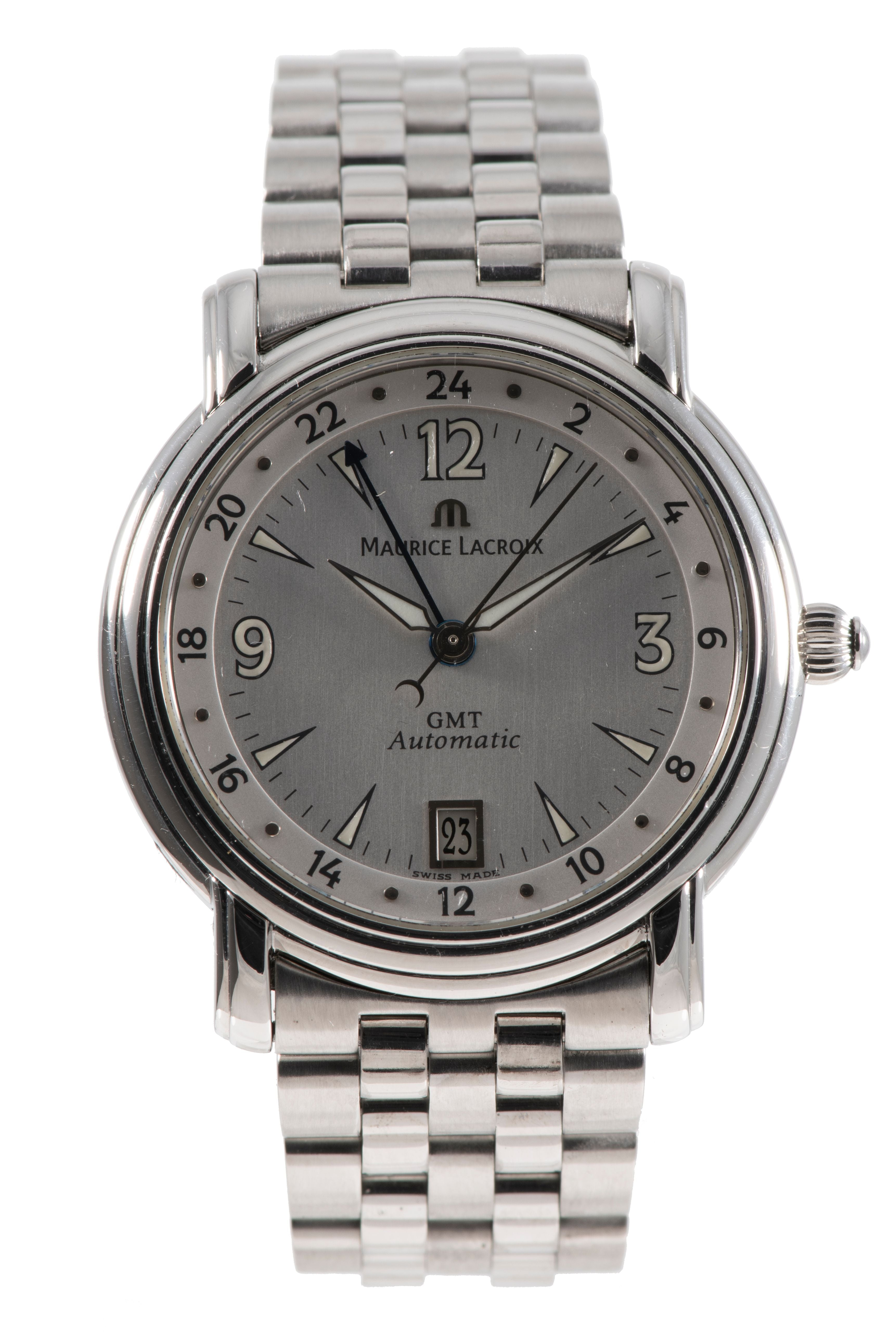 Maurice Lacroix Pontos 10818 Steel & Grey 38mm Mens Watch