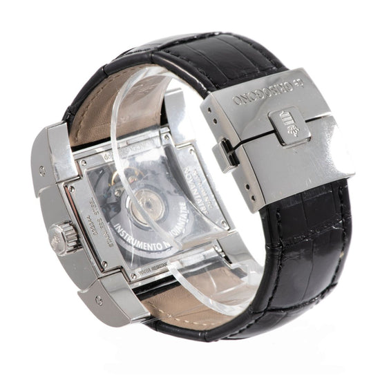De Grisogono Instrumento Novantatre Steel and Black Automatic 40mm Mens Watch