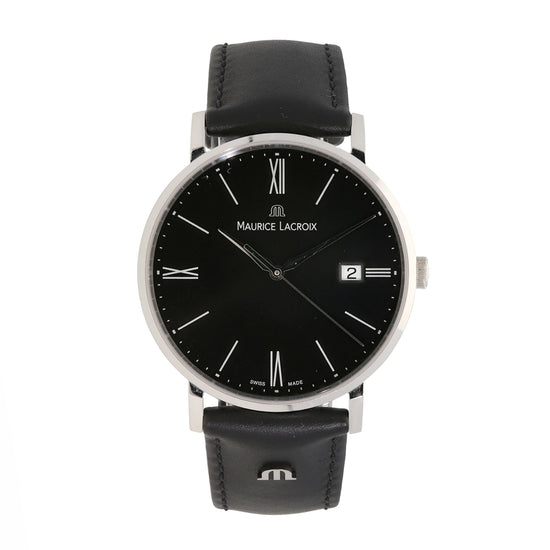 Maurice Lacroix Eliros EL1087 Stainless Steel & Black Quartz 38mm Mens Watch