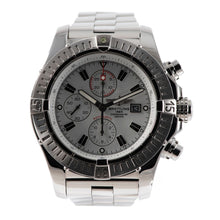 Load image into Gallery viewer, Breitling Super Avenger A13370 Chronograph Steel & White 48.4mm Mens Watch