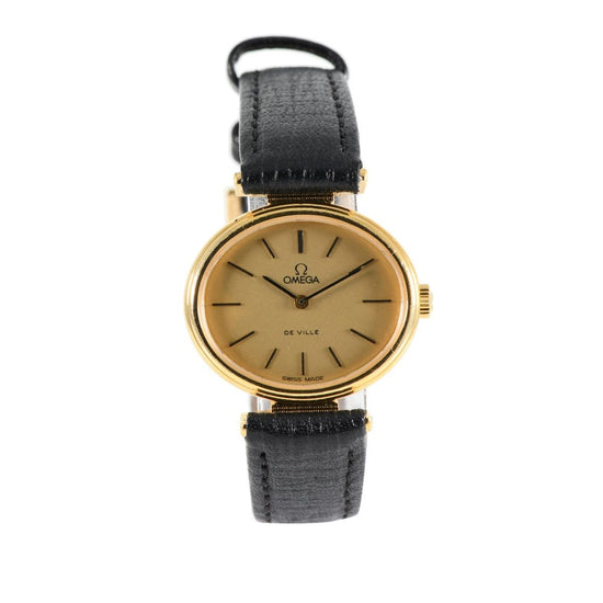 Omega De Ville Gold Plated & Champagne 28mm Ladies Watch