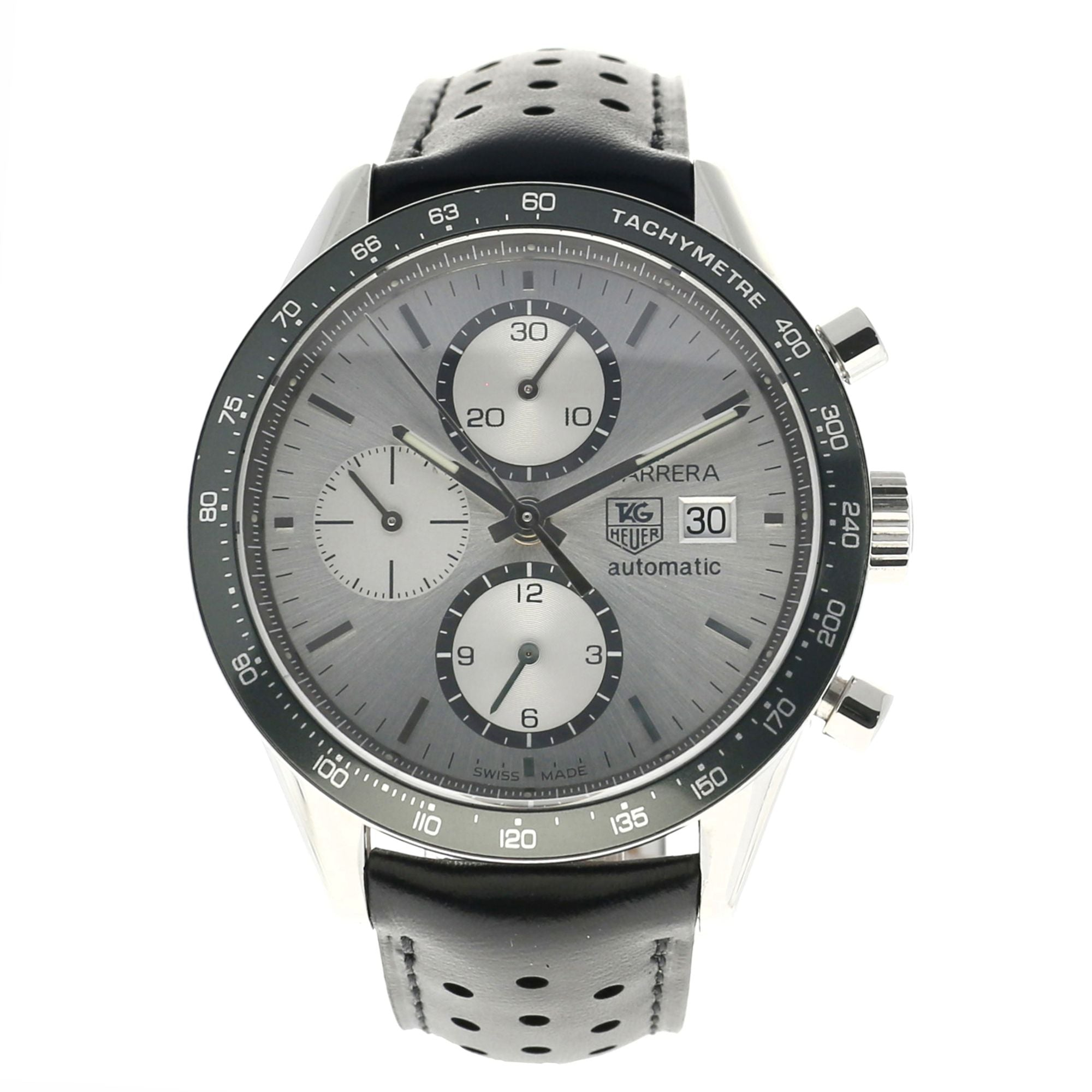 Tag Heuer Carrera CV2011 Steel & Grey 41mm Mens Watch