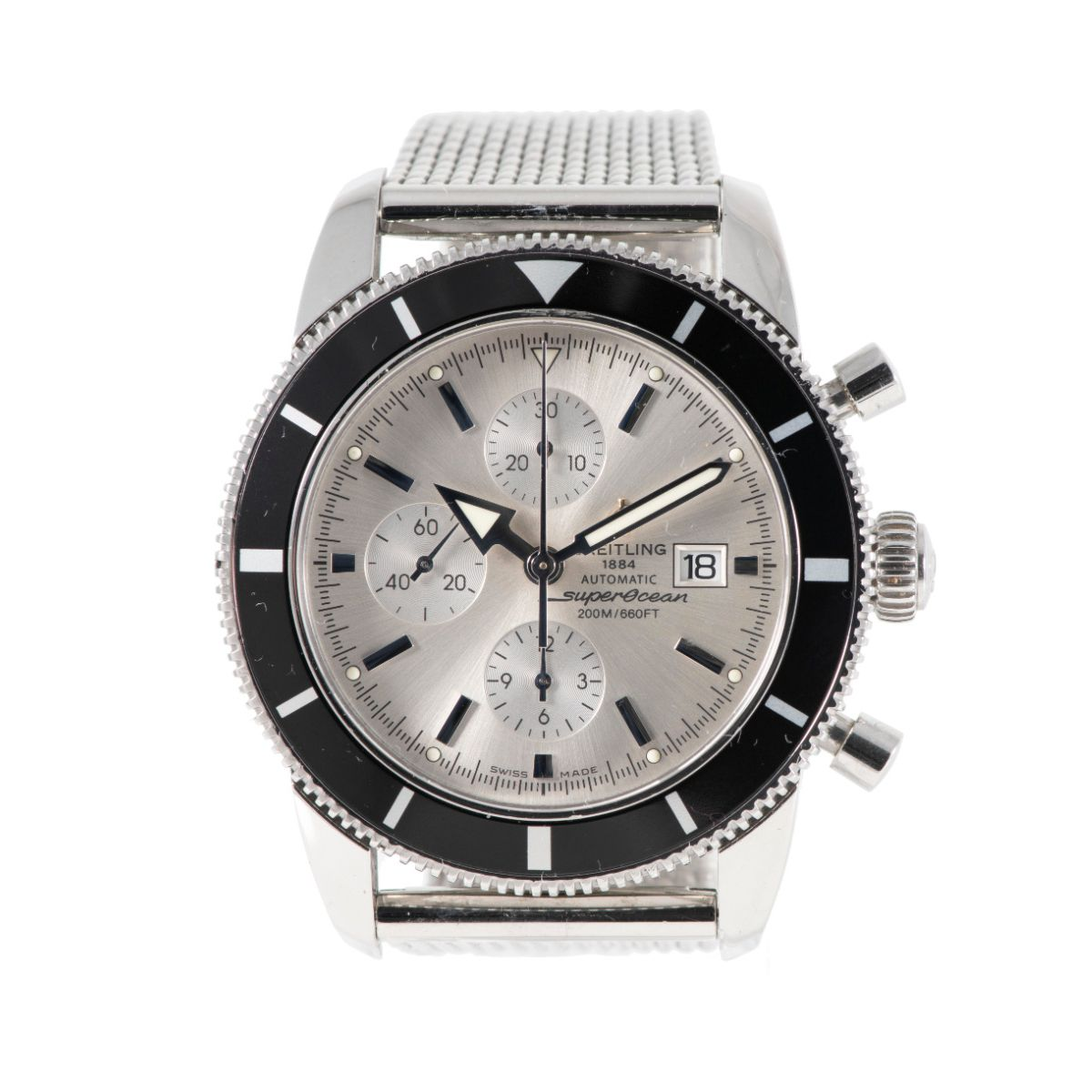 Breitling Superocean Heritage A13320 46mm Grey & Stainless Steel Chronograph Automatic Mens Watch
