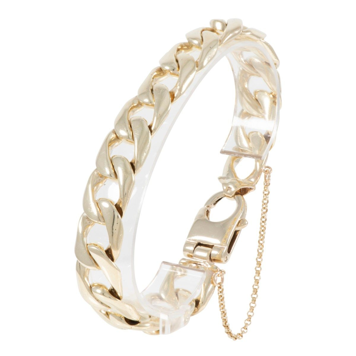 9ct Yellow Gold Curb Chain Bracelet 22cm