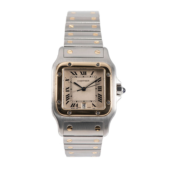 Cartier Santos 187901 Bi-Colour & Cream 29mm Mens Watch