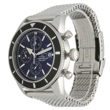 Load image into Gallery viewer, Breitling Superocean Heritage A13320 46mm Blue & Stainless Steel Automatic Mens Watch