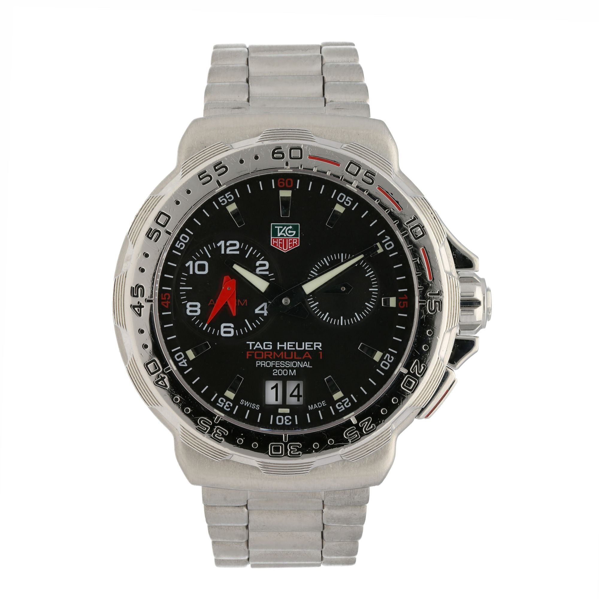 Tag Heuer F1 WAH111C 41mm Stainless Steel & Black Quartz Mens Watch