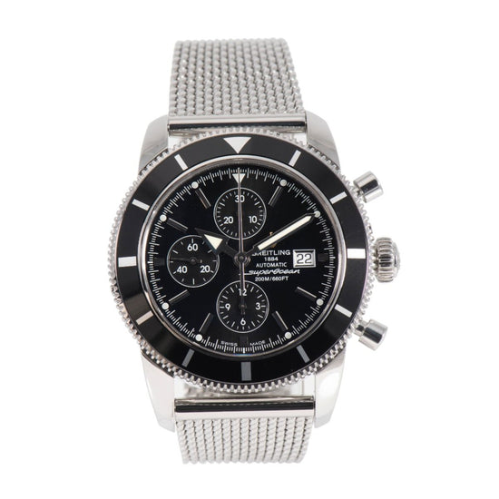 Breitling Superocean A13320 Chronograph Steel & Black Mens 46mm