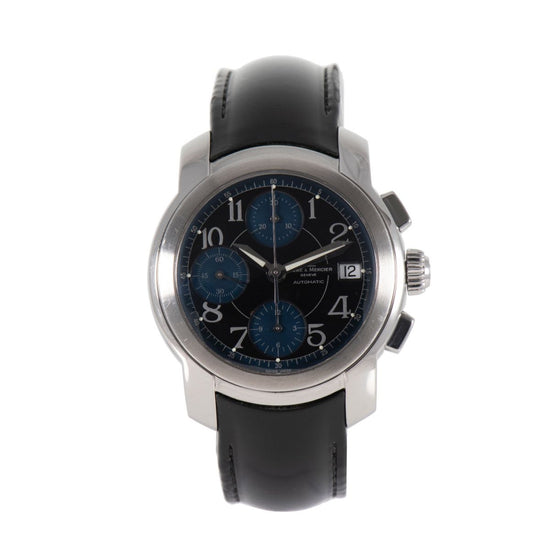 Baume & Mercier Capeland MV045216 Black Blue & Steel 37mm Mens Watch