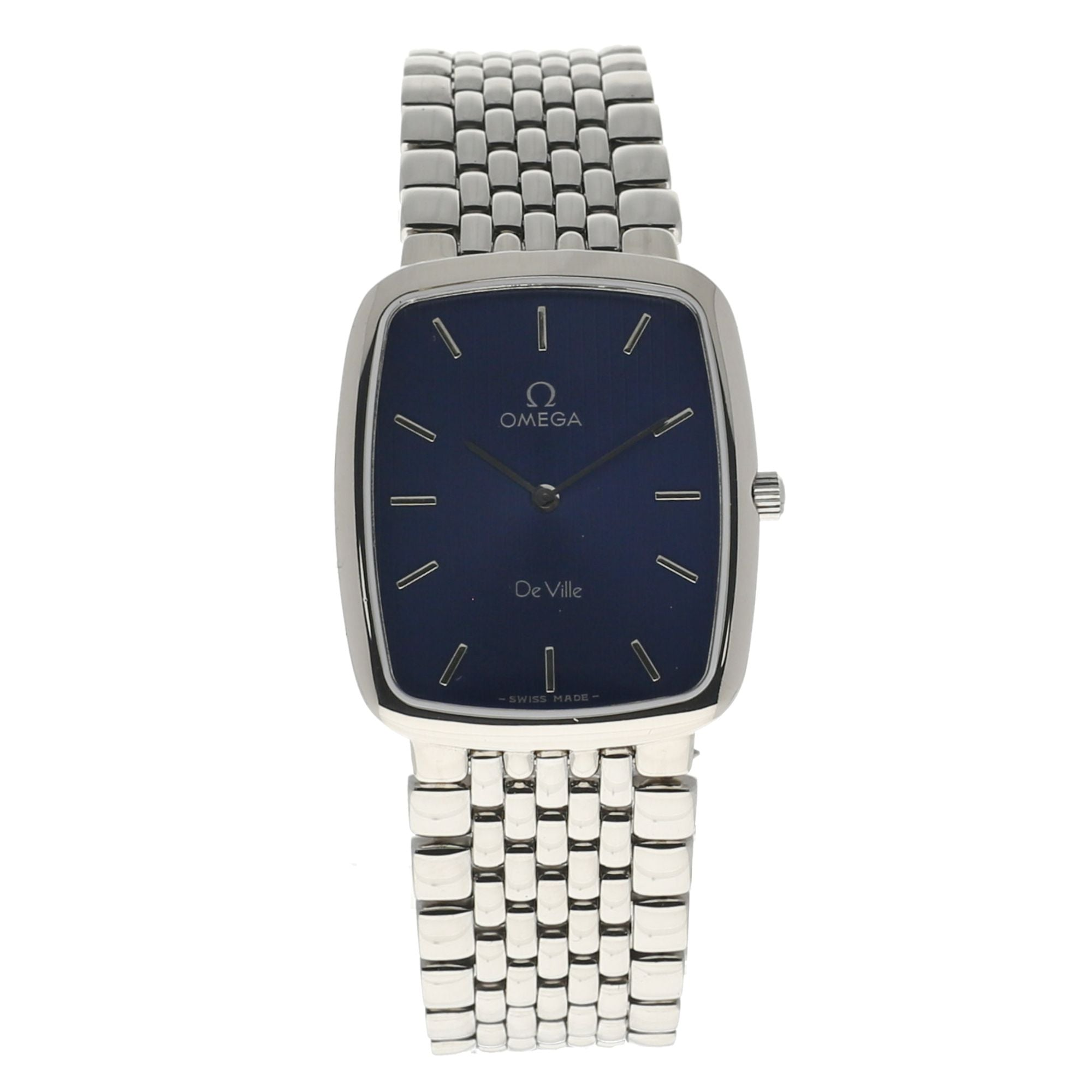 Omega De Ville Steel & Blue 26mm Mens Watch