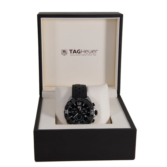 Tag Heuer F1 CAZ1010 Steel and Black 43mm Mens Watch