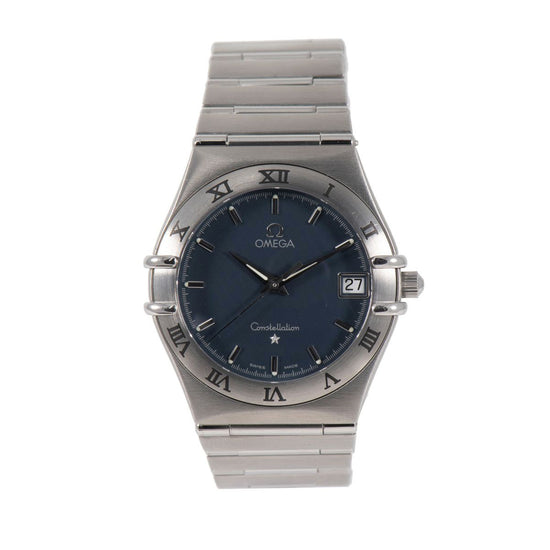Omega Constellation Stainless Steel & Blue 33.5mm Mens Watch