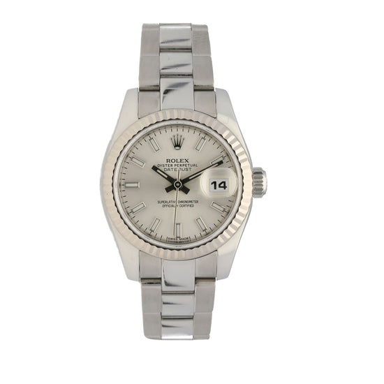 Rolex Datejust 179174 Steel & Silver Automatic 26mm Ladies Watch