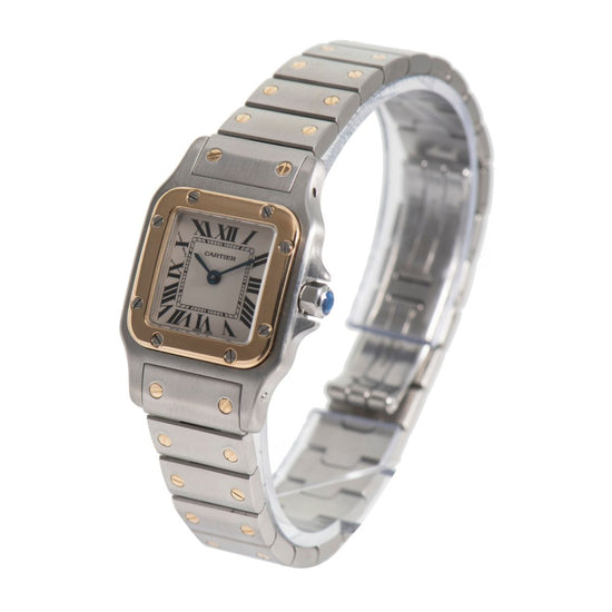 Cartier Santos Galbee 1567 Bi-Colour & Cream 23.5mm Ladies Watch