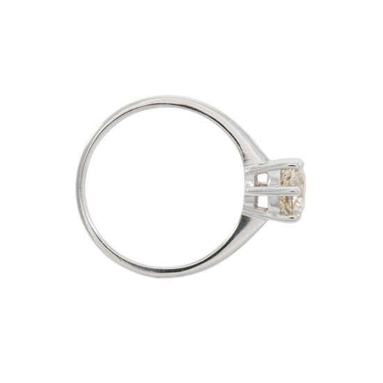 18ct White Gold 0.90ct Diamond Solitaire Ladies Ring Size O