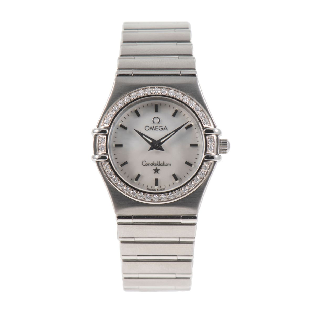 Omega Constellation 25mm Mother of Pearl Diamond Dial & Stainless Steel Quartz Ladies Watch