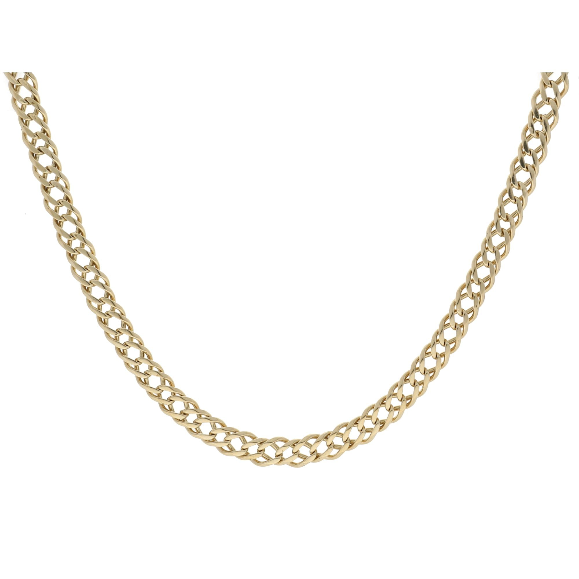 9ct Yellow Gold Mens Curb Chain 22 Inches 68L9&2