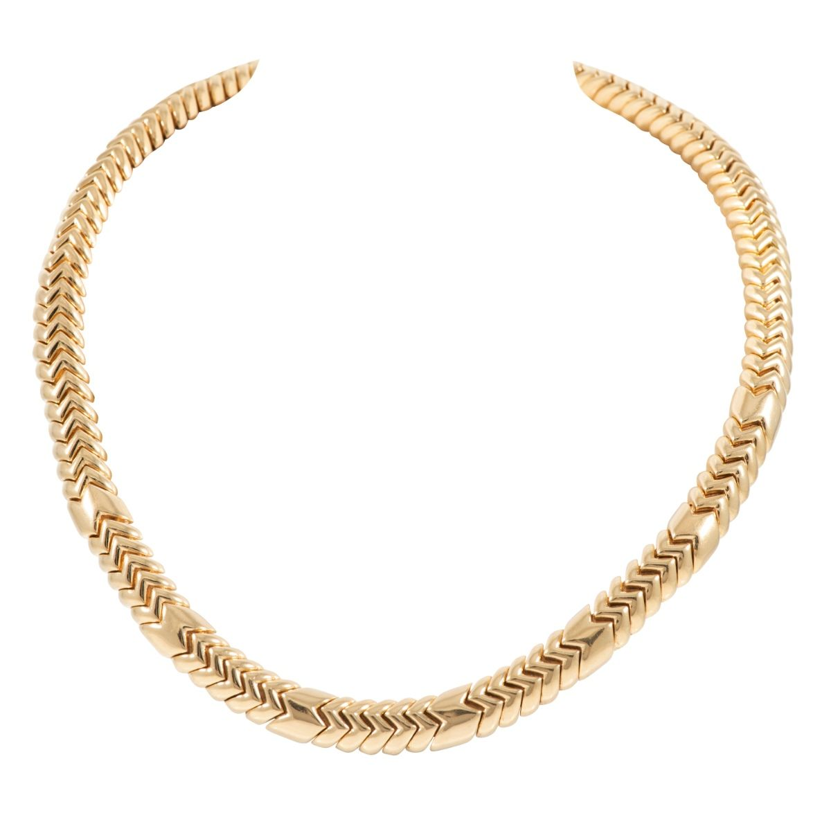 18ct Yellow Gold Decorative Ladies Chain (20