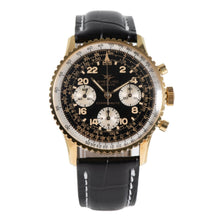 Load image into Gallery viewer, Breitling Cosmonaute 809 Gold Plated & Black 41.5mm Mens Watch