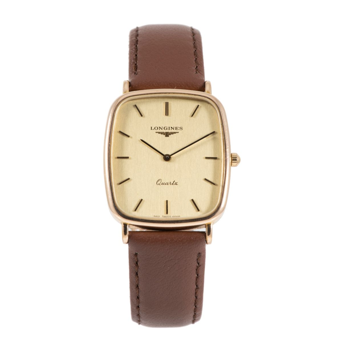 Longines Vintage Gold Plated 27mm Quartz Mens Watch