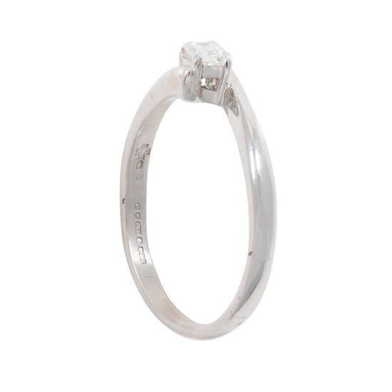 18ct White Gold 0.51ct Diamond Solitaire Ring Ladies Size T
