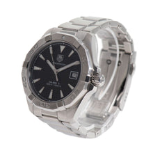 Load image into Gallery viewer, Tag Heuer Aquaracer WAY2110 Steel & Black 40mm Mens Watch