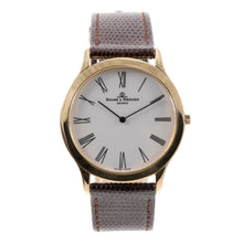 Load image into Gallery viewer, Baume & Mercier Classima MV045154 18ct Gold & Cream 35mm Mens Watch