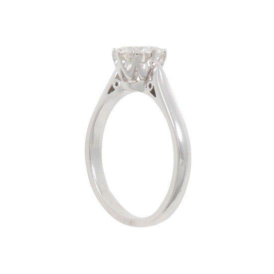 18ct White Gold 1.12ct Diamond Solitaire Ladies Ring Size P
