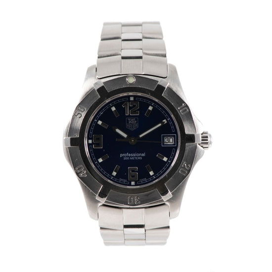 Tag Heuer 2000 Exclusive WN1112 Steel & Blue 38mm Mens Watch