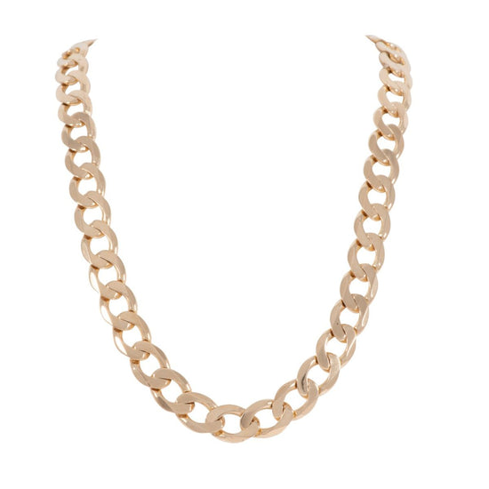 9ct Yellow Gold Curb Mens Chain 20 inches