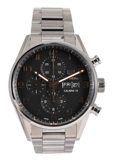 Tag Heuer Carrera CV2A1AB - 43mm Stainless Steel Mens Watch