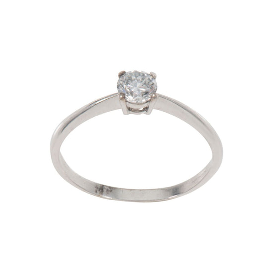 9ct White Gold 0.50ct Round Brilliant Cut Diamond Solitaire Ring Ladies Size T