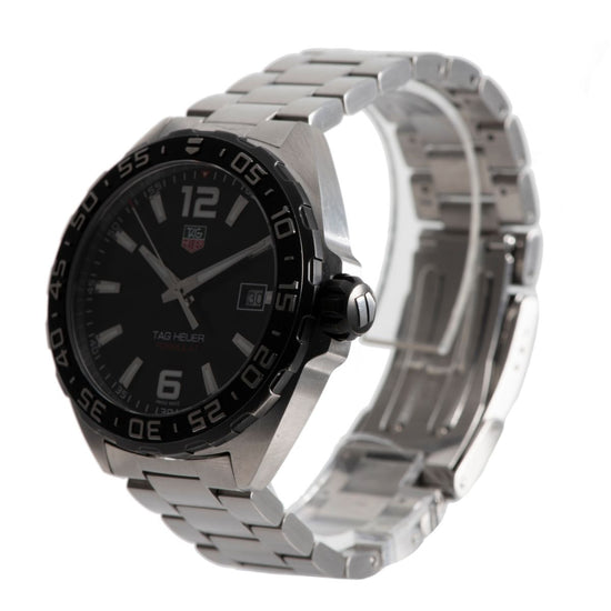 Tag Heuer F1 WAZ1110 Stainless Steel and Black 41mm Mens Watch