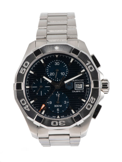 Tag Heuer Aquaracer CAY2112-0 Steel & Blue 43mm Mens Watch