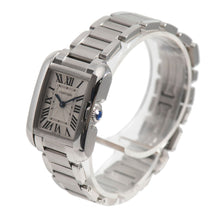 Load image into Gallery viewer, Cartier Tank Anglaise 3485 Steel & Grey 22.5mm Ladies Watch