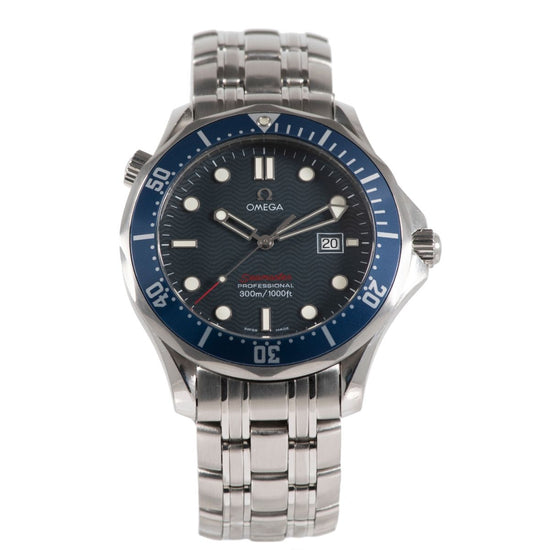 Omega Seamaster Stainless Steel & Blue 41mm Mens Watch