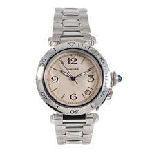 Load image into Gallery viewer, Cartier Pasha Stainless Steel & Cream 38.5mm Mens Watch