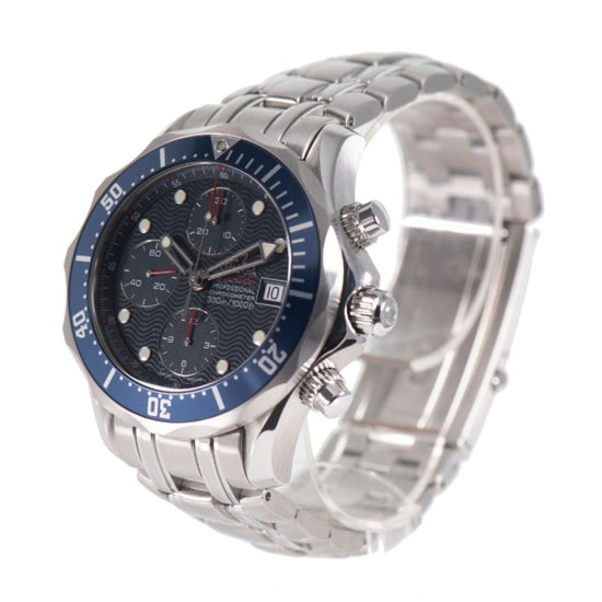 Omega Seamaster Chrono Diver 41.5mm Chronograph Blue & Stainless Steel Automatic Mens Watch