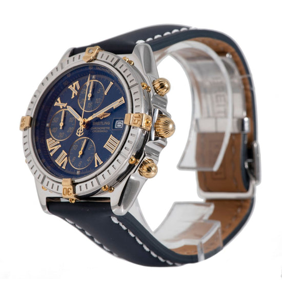 Breitling Crosswind B13355 Chronograph Steel & Blue 43mm Mens Watch