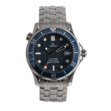 Load image into Gallery viewer, Omega Seamaster 36mm Blue Dial Quartz Mens Watch