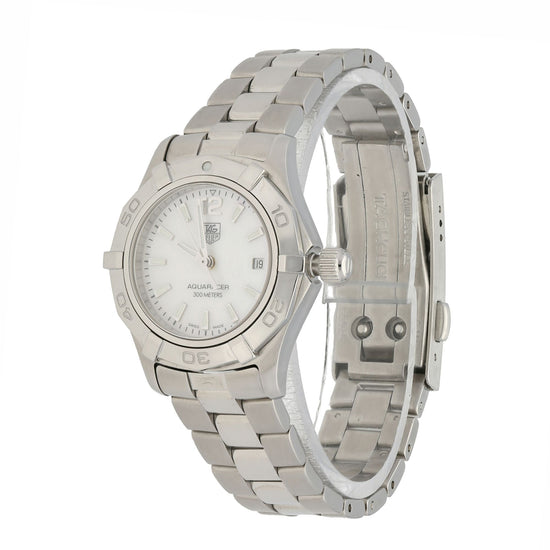 Tag Heuer Aquaracer WAF1414 Stainless Steel & Mother of Pearl 27mm Quartz Ladies Watch