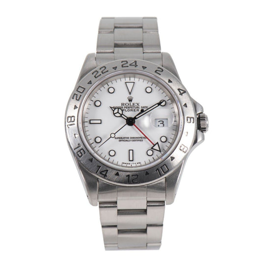 Rolex Explorer II 16570 Steel & White Mens 40mm