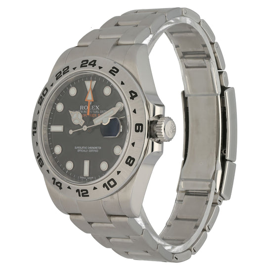 Rolex Explorer II 216570 Steel & Black 42mm Mens Watch