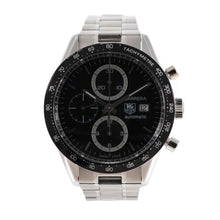 Load image into Gallery viewer, Tag Heuer Carrera CV2010 Chronograph Steel & Black 41mm Mens Watch