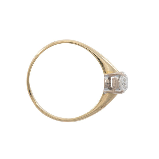 18ct Yellow Gold 1.00ct Oval Cut Diamond Solitaire Ring Ladies Size Q