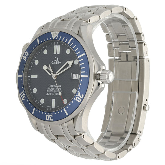Omega Seamaster 41mm Blue & Stainless Steel Quartz Mens Watch